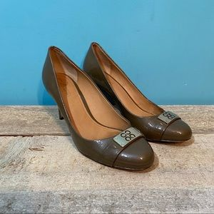 Coach Whitney patent leather heels